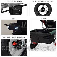 Детский трехколесный велосипед TURBOTRIKE M 3115HA-17L. Звуковые и световые эффекты. Зелёный, фото 2