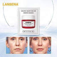Лифтинговый крем для лица с маслом виноградных косточек LANBENA Grape Seed (саше 3 г)