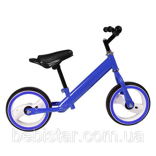 """Беговел синий TILLY 12"""" T-212515 Blue EVA светящиеся колеса для деток 2-4 года"""