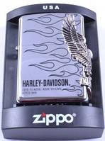 Зажигалка бензиновая Zippo Harley-Davidson, копия, фото 1