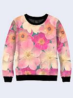 Світшот жіночий Ніжні рожеві квіти