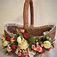 Корзина пасхальная плетенная для декора большая (40*38*25), фото 1