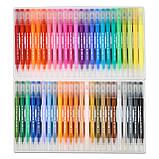 Большой набор маркеров для рисования и скетчинга, двусторонние маркеры на водной основе 100 цветов, фото 5