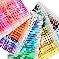 Большой набор маркеров для рисования и скетчинга, двусторонние маркеры на водной основе 100 цветов