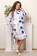 Женское платье большой размер (цвета: белый, голубой, беж, оливка) оптом, фото 1