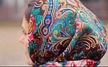 Песнь уходящего лета 1827-17, павлопосадский платок шерстяной с шелковой бахромой, фото 10