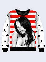 Світшот жіночий Американськкий прапор 02