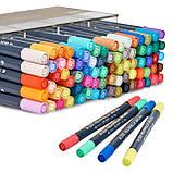 Набор двусторонних акварельных маркеров STA 80 цветов (B141219), фото 9