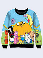 Світшот жіночий 3D Adventure time/Свитшот Время приключений
