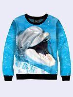 Світшот жіночий 3D Дельфін, фото 1