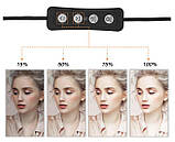 Кольцевой свет для селфи и предметной съемки, косметологии 200 мм. LED Лампа USB PULUZ M-20 Черная, фото 3