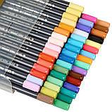 Набор двусторонних акварельных маркеров на водной основе STA 36 цветов (B141220) авкамаркеры, ВИДЕООБЗОР!, фото 2