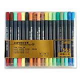Набор двусторонних акварельных маркеров на водной основе STA 36 цветов (B141220) авкамаркеры, ВИДЕООБЗОР!, фото 7
