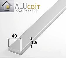 Полоса (шина) алюминиевая 40х1.5 анодированная серебро