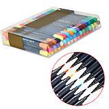 Набор двусторонних акварельных маркеров на водной основе STA 36 цветов (B141220) авкамаркеры, ВИДЕООБЗОР!, фото 8