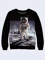 Світшот жіночий Космонавт на Місяці