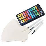 Подарочный набор акварельные краски для рисования Professional Paint Set 36 цветов в металлическом пенале, фото 6