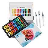 Подарочный набор акварельные краски для рисования Professional Paint Set 36 цветов в металлическом пенале, фото 7