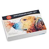 Подарочный набор акварельные краски для рисования Professional Paint Set 36 цветов в металлическом пенале, фото 8
