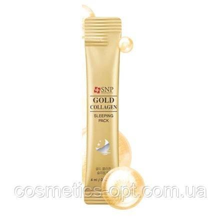 Ночная маска на основе золота и коллагена SNP Gold Collagen Sleeping Pack (саше 4ml)