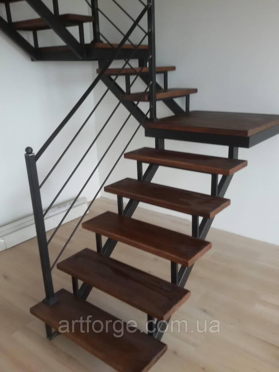 """Перила для лестницы в современном стиле """"Лофт"""""""