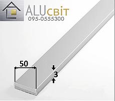 Полоса (шина) алюминиевая 50х3  анодированная серебро