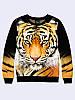 Світшот жіночий 3D Тигр