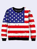 Світшот жіночий Американський прапор 02