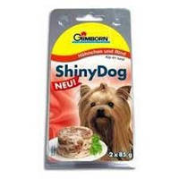 Gimpet Shiny Dog курица, говядина - 2x85 г консервы для собак