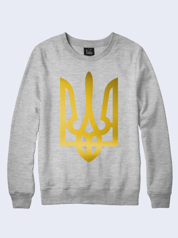 Світшот жіночий меланж + золотий тризуб - Donna Misteriosa. Агрегатор  виробників України. Без самовивозу 9e90adb726117
