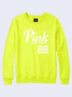 Світшот жіночий Pink 89 жовтий