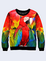 Світшот жіночий 3D Папуга Ара, фото 1