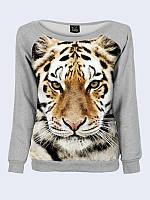 Світшот жіночий Меланж + тигр