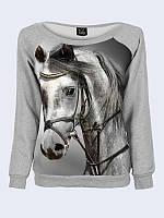 Світшот жіночий Меланж + кінь