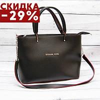 Женская сумка Mісhаеl Коrs, в стиле Майкл Корс MK, черная с красным (5 расцветок)