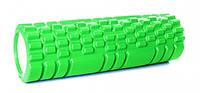Массажный ролик для йоги 30 см салатовый