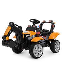 Детский электромобиль Трактор M 4263EBLR-7 оранжевый