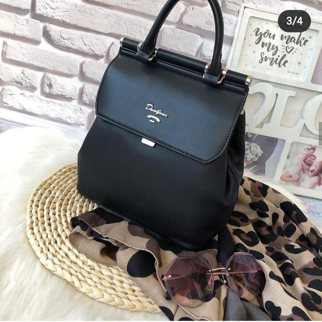 Міський жіночий рюкзак - сумка David Jones, чорний / жіночий рюкзак
