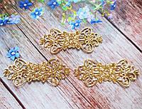 Филигрань для декора, 7,4х3 см, цвет золото, 1 шт
