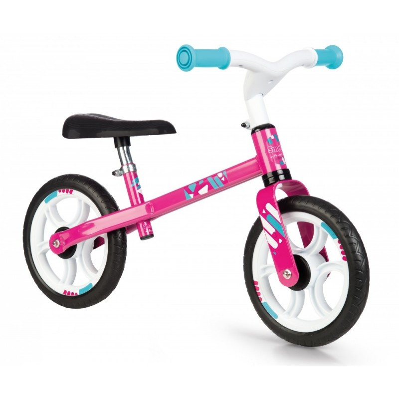 Беговел First Bike розовый Smoby 770205