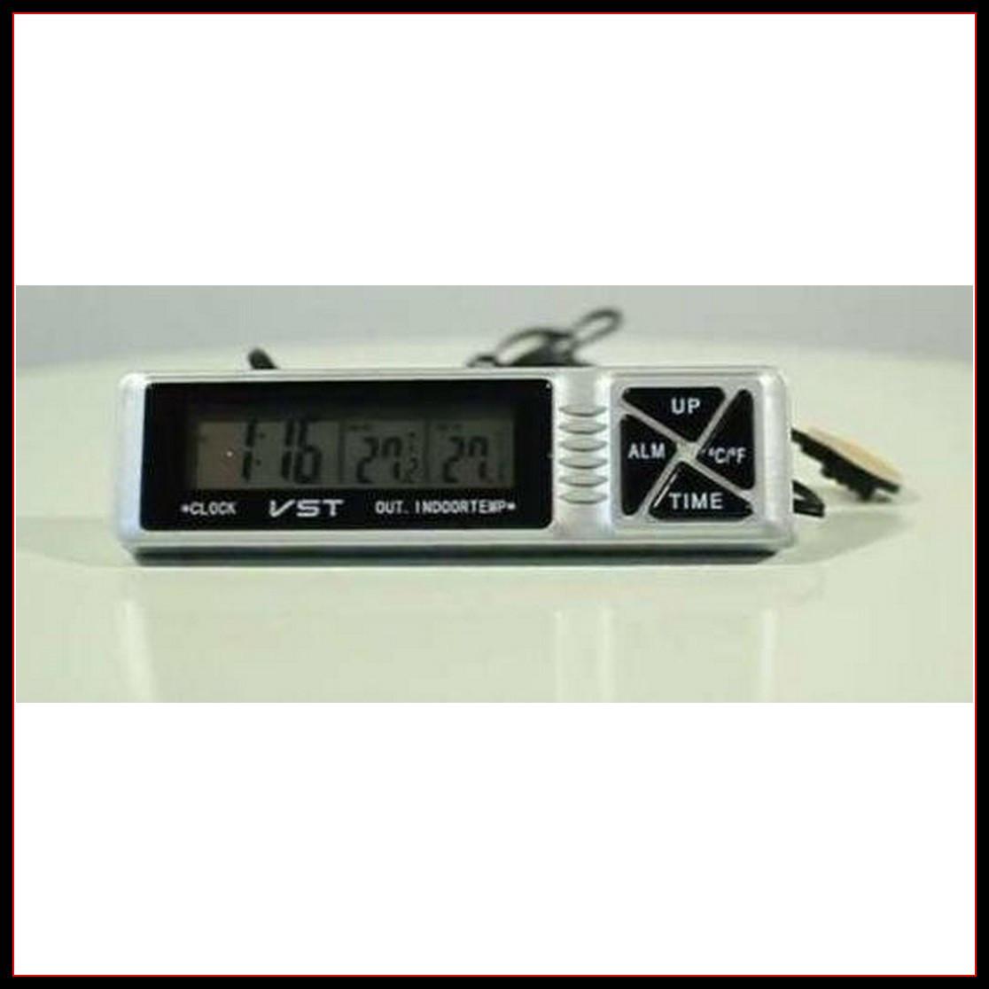 Автомобильные часы с термометром и будильником vst 7066 CG10 PR2
