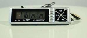 Автомобильные часы с термометром и будильником vst 7066 CG10 PR2, фото 2