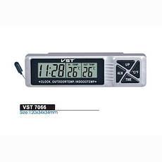 Автомобильные часы с термометром и будильником vst 7066 CG10 PR2, фото 3