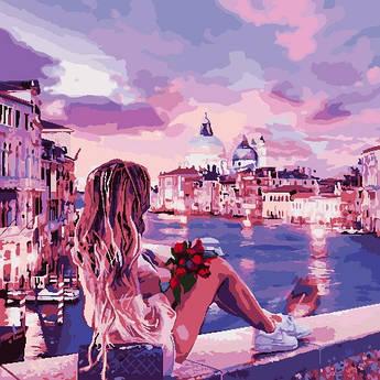 Картина по номерам ArtStory Вечер в Венеции (AS0810) 40 х 40 см (Без коробки)