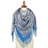 Великолепный век 1867-13, павлопосадский платок (шаль, крепдешин) шелковый с шелковой бахромой, фото 2