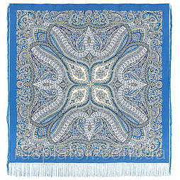 Чудовий століття 1867-13, павлопосадский хустку (шаль, крепдешин) шовковий з шовковою бахромою