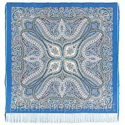 Великолепный век 1867-13, павлопосадский платок (шаль, крепдешин) шелковый с шелковой бахромой