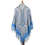 Великолепный век 1867-13, павлопосадский платок (шаль, крепдешин) шелковый с шелковой бахромой, фото 3