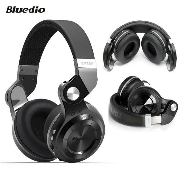 Беспроводные bluetooth наушники Bluedio T2 Plus с микрофоном+MP3+FM. Bluetooth стерео-гарнитура Bluedio T2+