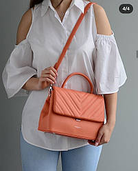 Женская летняя сумка David Jones, оранжевая / жіноча сумка